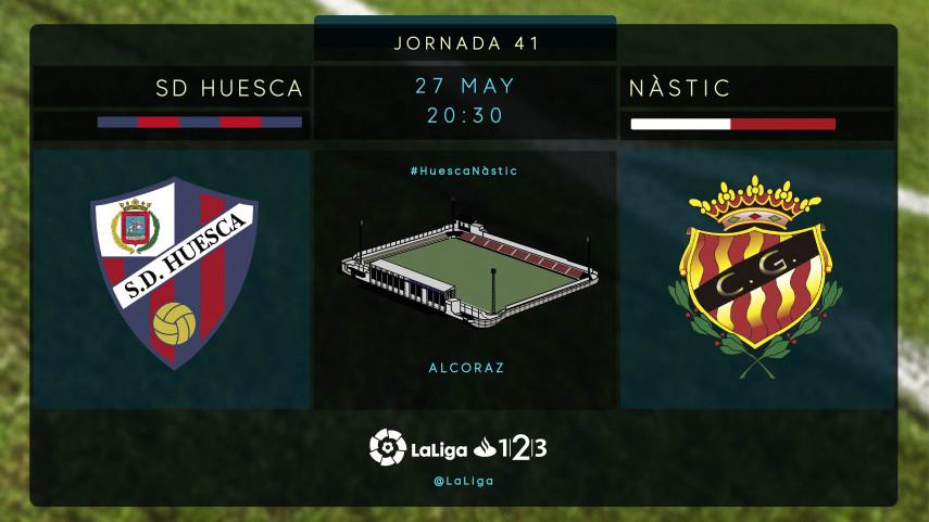 El Huesca quiere terminar como líder