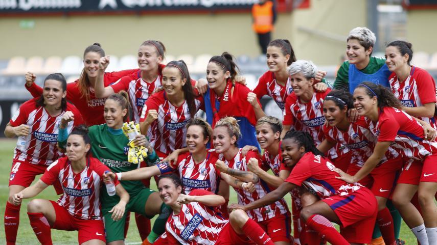 El At. Madrid femenino, primer finalista de la Copa de la Reina