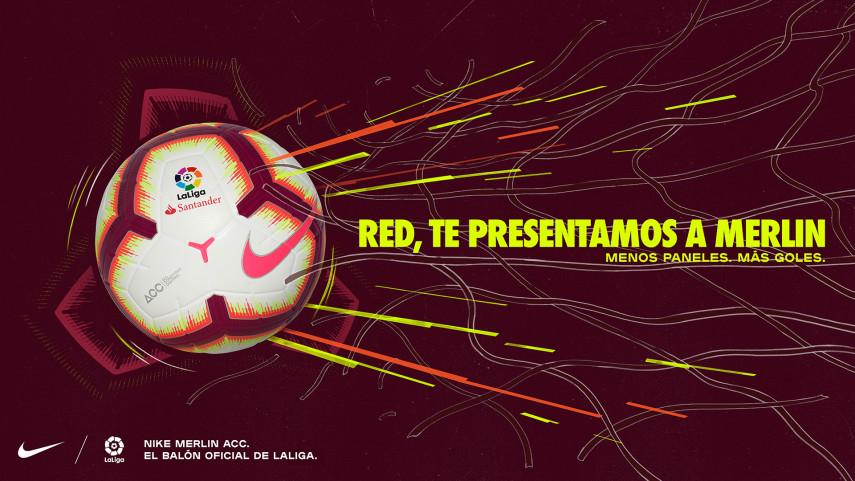 Nike presenta el balón Merlin de LaLiga Santander para la temporada 2018/19