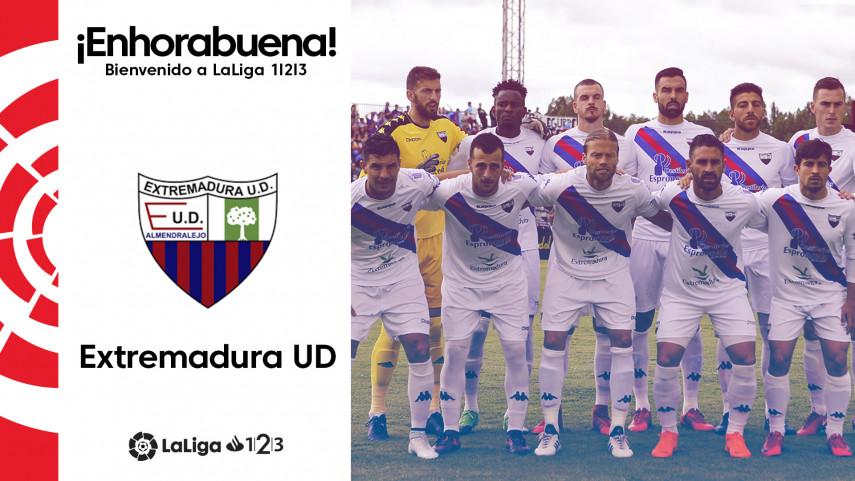 El Extremadura UD, nuevo equipo de LaLiga 1l2l3