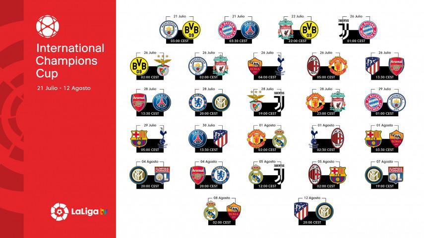 Tres equipos de LaLiga Santander estarán presentes en la International Champions Cup