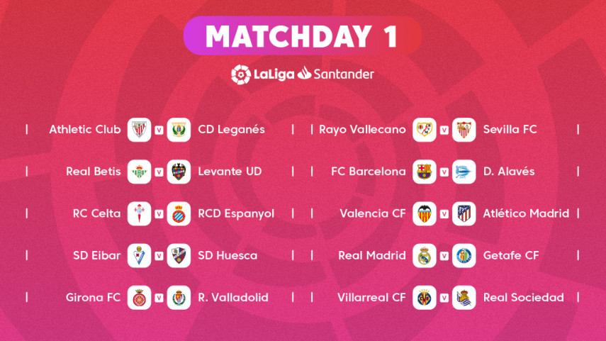 The fixtures for LaLiga Santander 2018/19