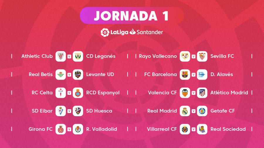 Liga Bbva Calendario Y Resultados.Ya Se Conoce El Calendario Oficial De Laliga Santander 2018 19