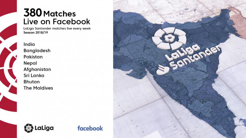 LaLiga desembarca en Facebook para Asia del Sur