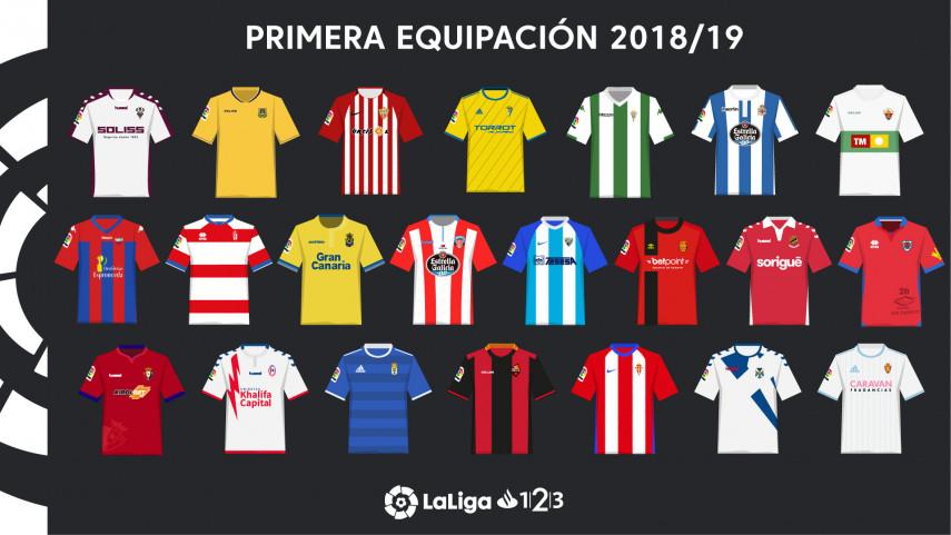¿Cuál es tu camiseta favorita de LaLiga 1|2|3 2018/19?