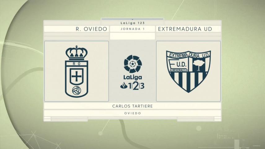 El Carlos Tartiere acoge el debut del Extremadura UD en LaLiga 1l2l3