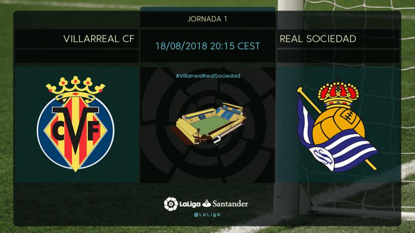 Villarreal y Real Sociedad buscan empezar el curso con una sonrisa
