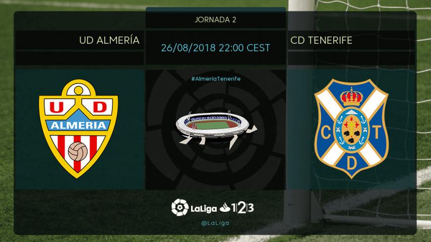 Almería y Tenerife buscan sumar de tres en tres