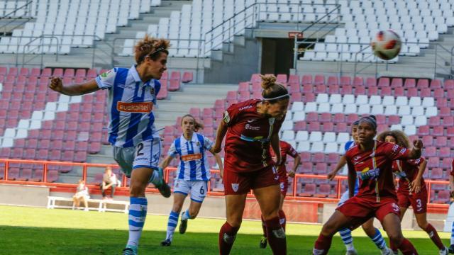 Imagen del encuentro entre Logroño y Real Sociedad.