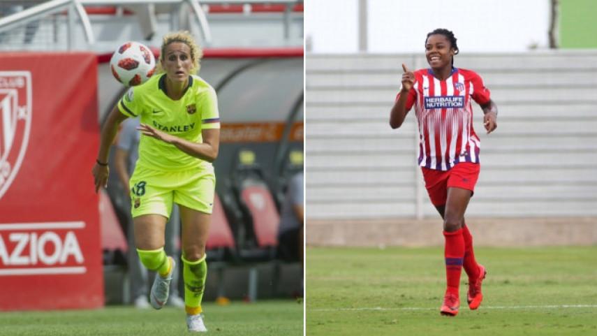 El FC Barcelona y el At. Madrid Femenino emprenden su camino en la Women's Champions League