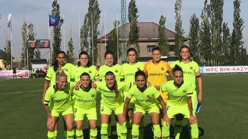 El FC Barcelona pierde por 3-1 ante el BIKK-Kazygurt en la UEFA Women's Champions League