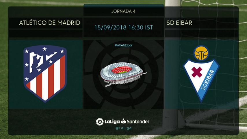 Atlético y Eibar buscan despegar en el Wanda Metropolitano
