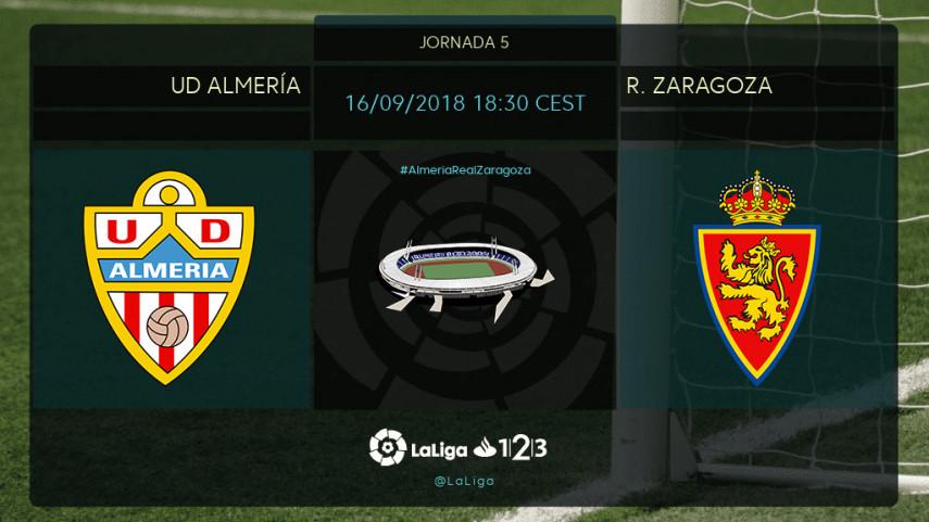 El Almería, a cortar la buena racha del R. Zaragoza