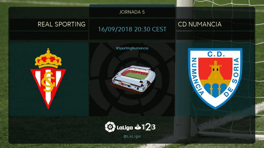 Sporting y Numancia miden sus fuerzas en el Molinón
