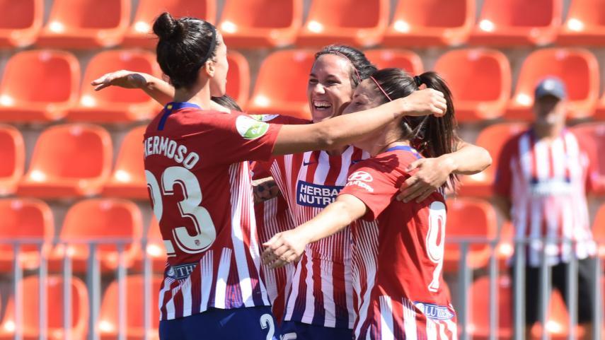 El At. Madrid Femenino no da opción al Logroño