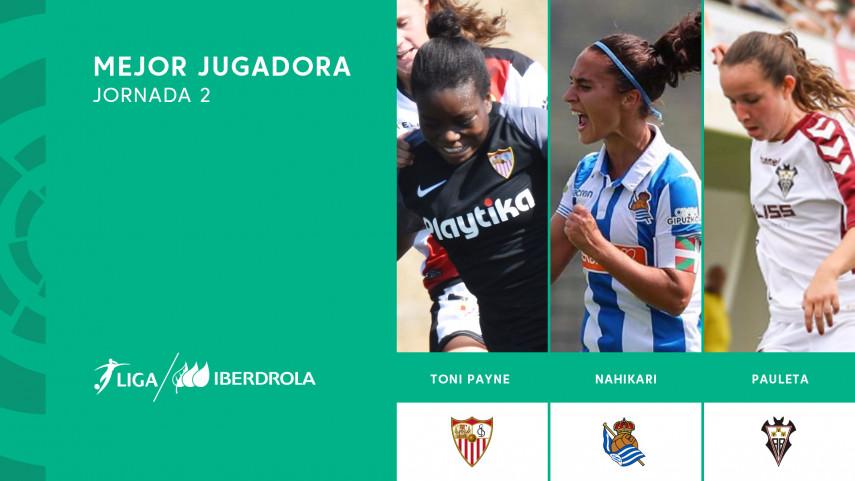 ¿Quién fue la mejor jugadora de la segunda jornada de la Liga Iberdrola?