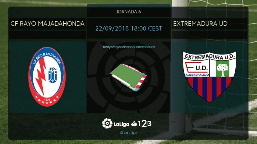 El Extremadura quiere estrenarse ante el CF Rayo