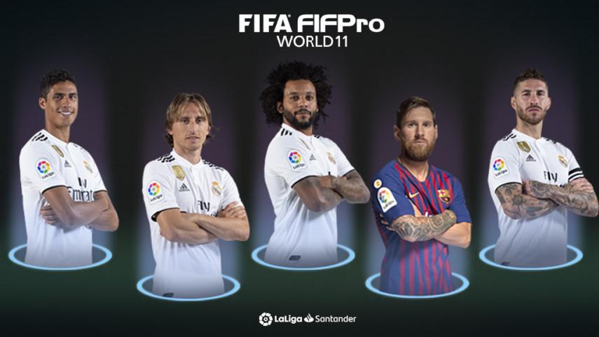 Cinco jugadores de LaLiga Santander, en el FIFA FIFPro World11