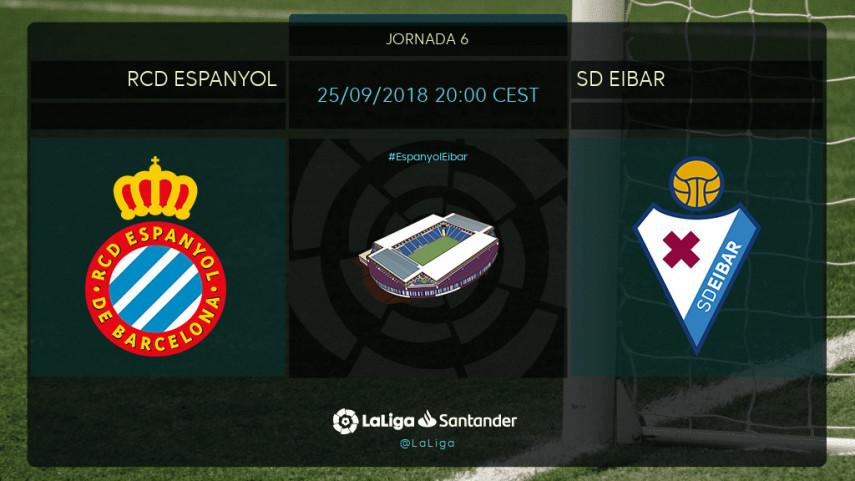 El Espanyol busca hacerse fuerte ante un Eibar al alza