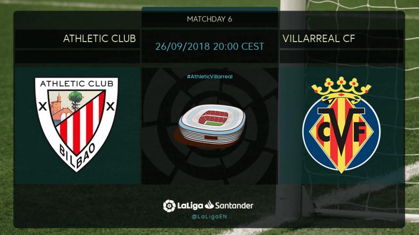Preview: Athletic Club v Villarreal CF