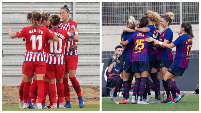 Barcelona y At. Madrid Femenino afrontan la vuelta de dieciseisavos de Champions