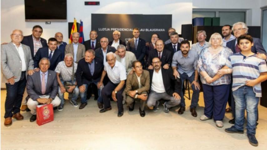 Ex jugadores de FC Barcelona y Girona FC, unidos por el derbi