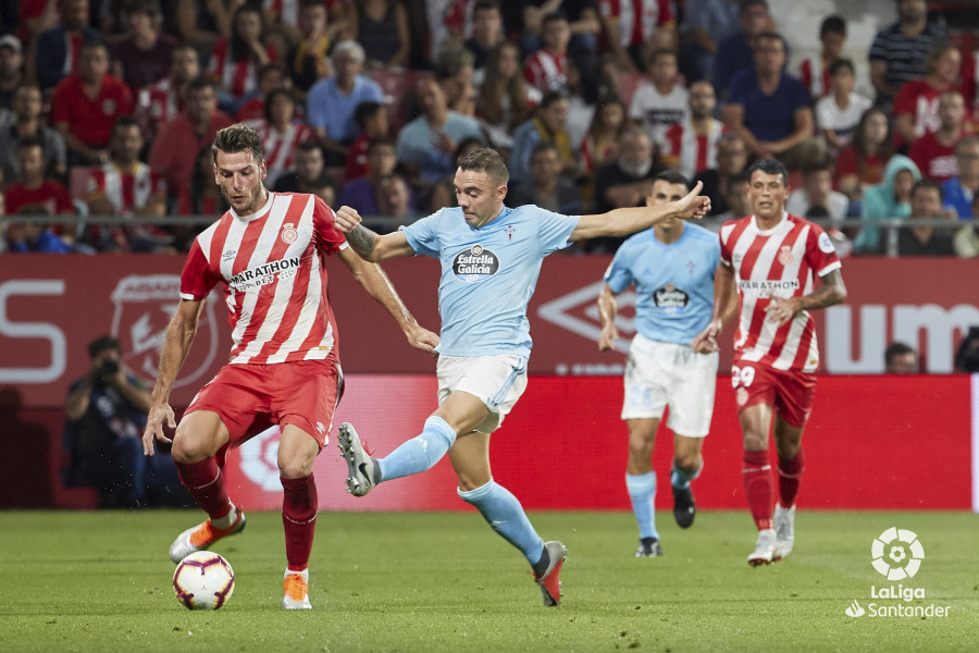 Aspas en el partido de la primera vuelta (Foto: LaLiga).