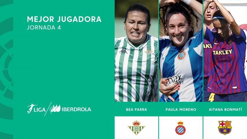 ¿Quién fue la mejor jugadora de la cuarta jornada de la Liga Iberdrola?