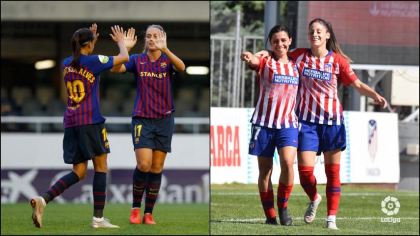 At. Madrid Femenino y FC Barcelona, a por los cuartos de la Women's Champions League