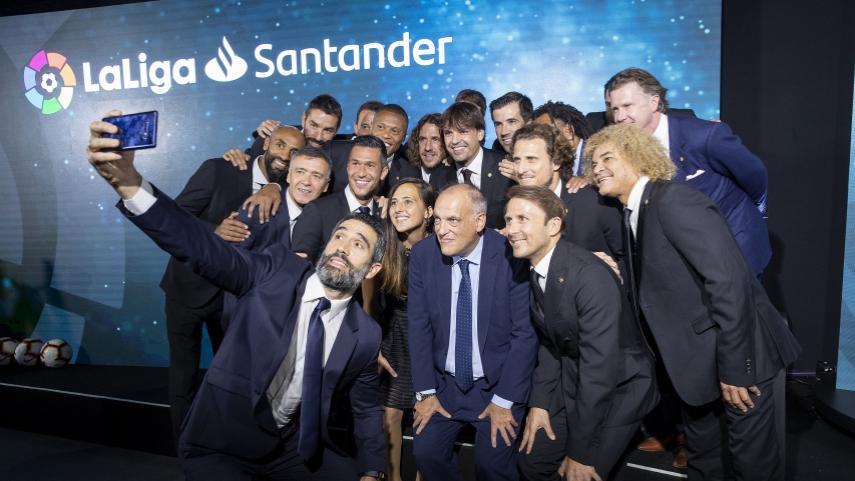Eto'o, Xabi Prieto, Aintzane Encinas, Baptista, Luis García y Valderrama, nuevas estrellas del equipo de Embajadores de LaLiga