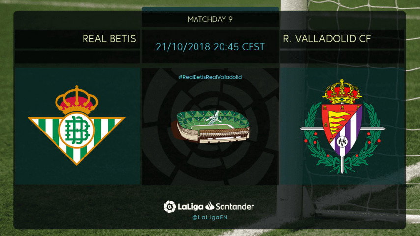 Valladolid looking for fourth win in a row away at Betis