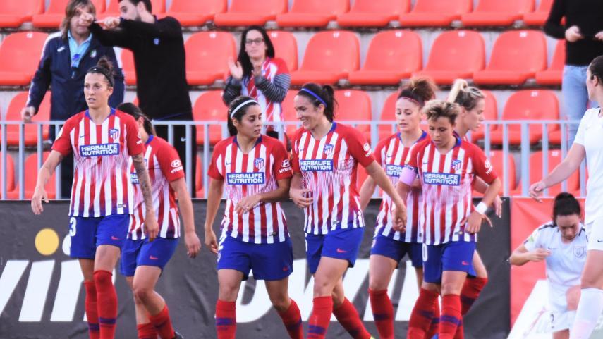 El At. Madrid Femenino no cede terreno en la Liga Iberdrola