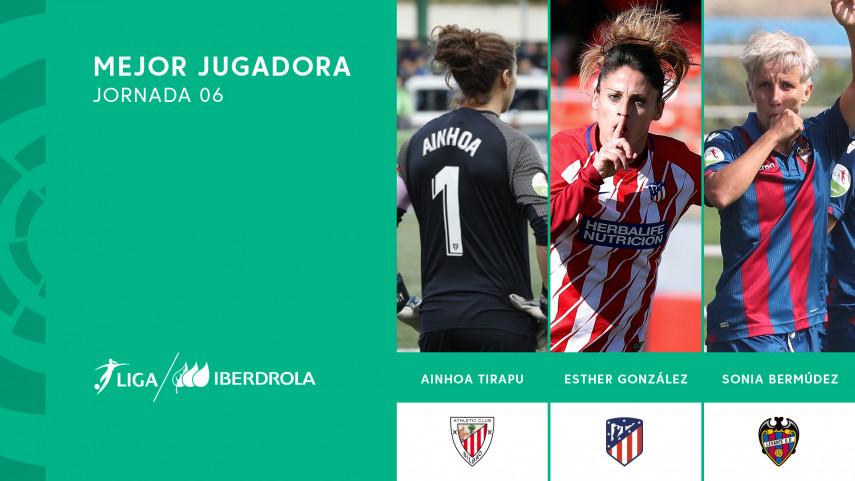¿Quién fue la mejor jugadora de la jornada seis de la Liga Iberdrola?
