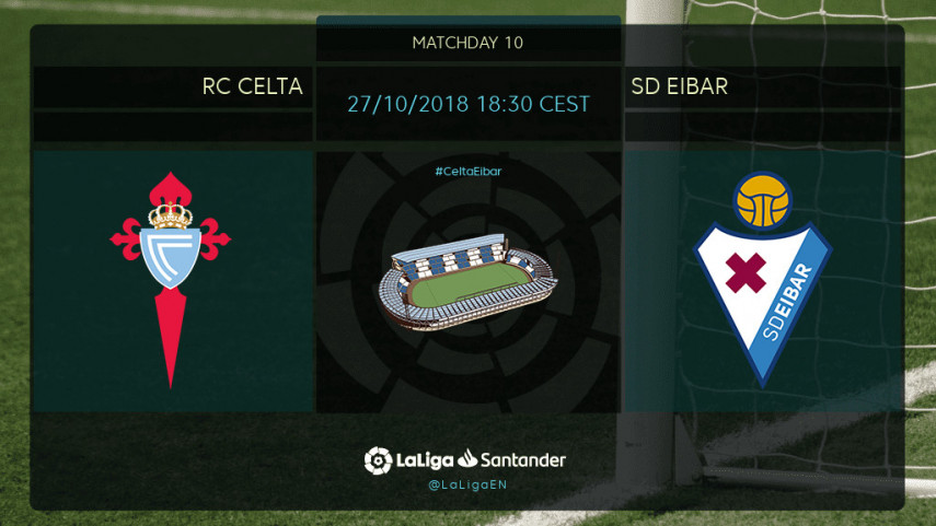 Celta looking to bounce back against Eibar