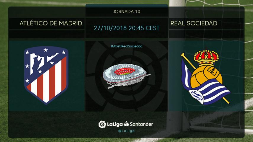 La Real Sociedad prueba su buena racha como visitante en el Wanda Metropolitano