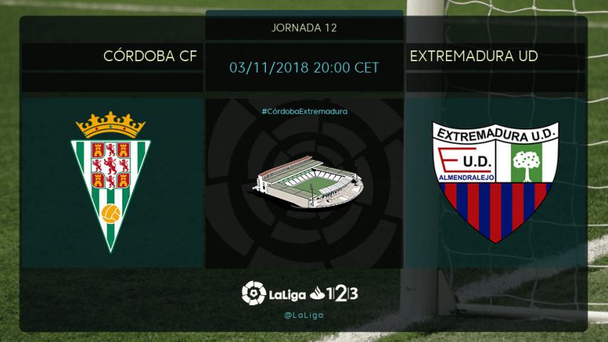 Ansias de victoria en el Córdoba - Extremadura