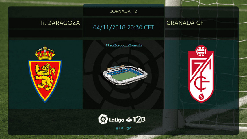 El R. Zaragoza quiere frenar el momento dulce del Granada CF