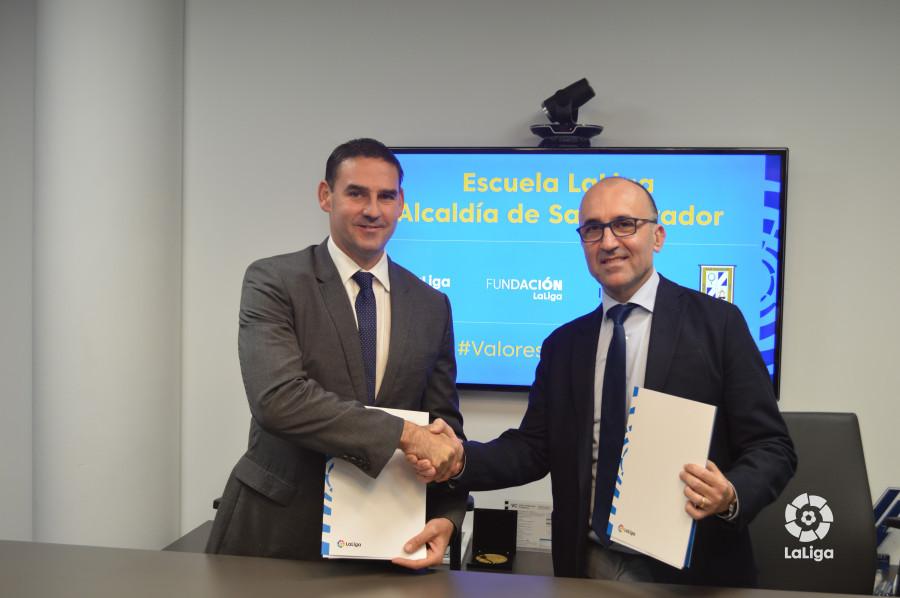 FUNDACIÓN LaLiga y Alcaldía de San Salvador seguirán trabajando en acciones de inclusión social