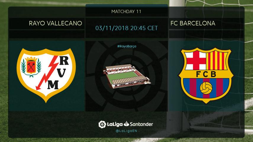 Leaders Barça head to Vallecas