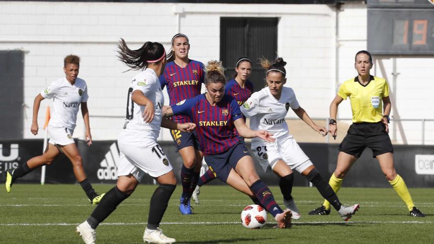 El FC Barcelona no pasa del empate ante el VCF Femenino