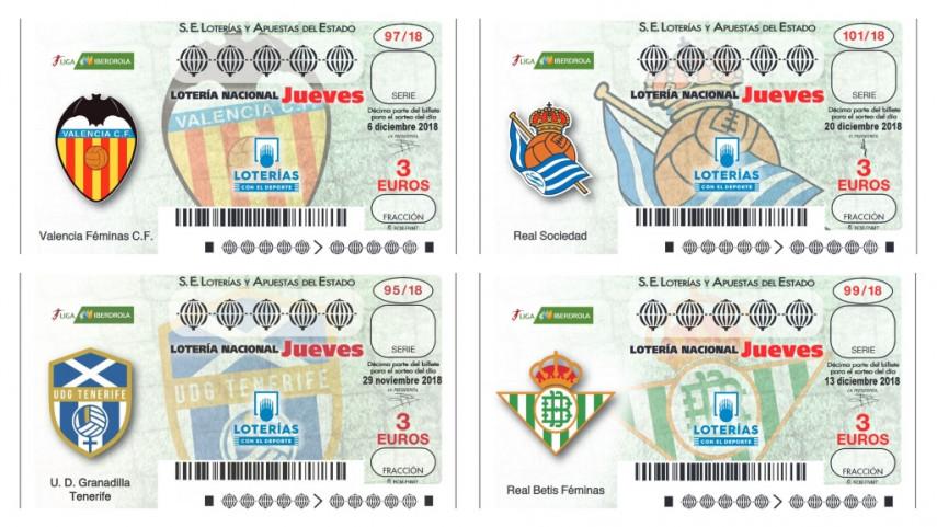La Liga Iberdrola reparte suerte de la mano de Loterías