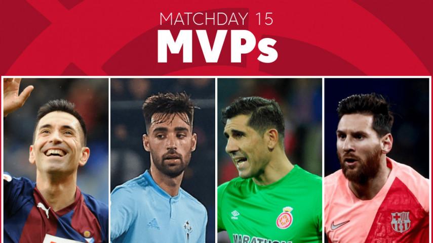 Elige al MVP de la jornada 15 de LaLiga Santander