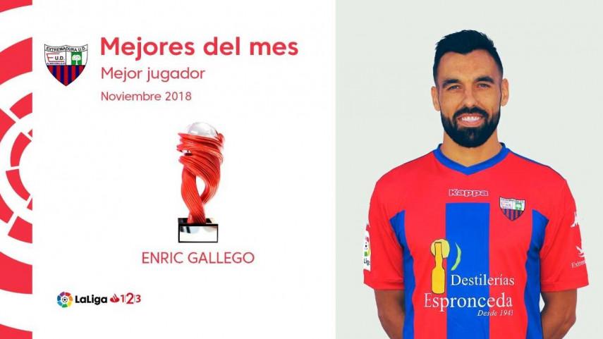 Enric Gallego, Mejor Jugador de LaLiga 1|2|3 en noviembre