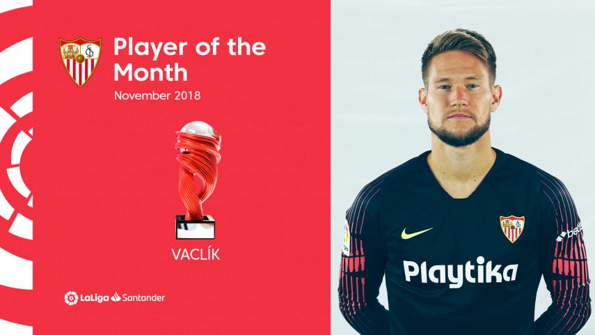 Tomas Vaclik is the LaLiga Santander Player of the Month for November