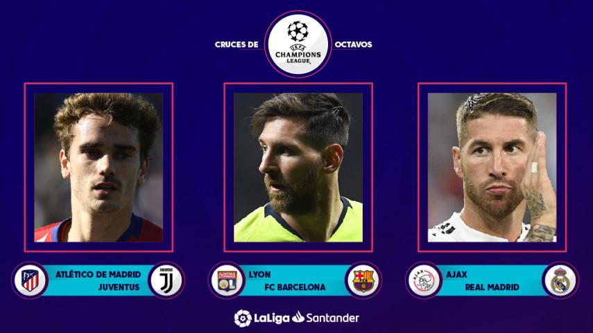 Los equipos españoles ya conocen sus rivales en los octavos de final de la Champions