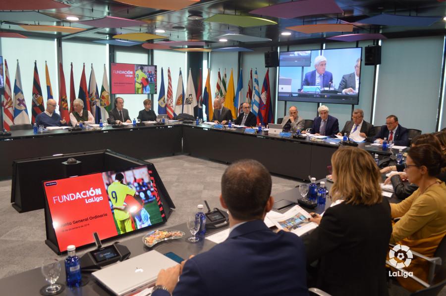La FUNDACIÓN LaLiga celebra su segunda Junta General Ordinaria de 2018