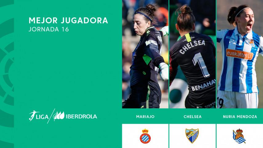 ¿Quién fue la mejor jugadora de la jornada 16 de la Liga Iberdrola?