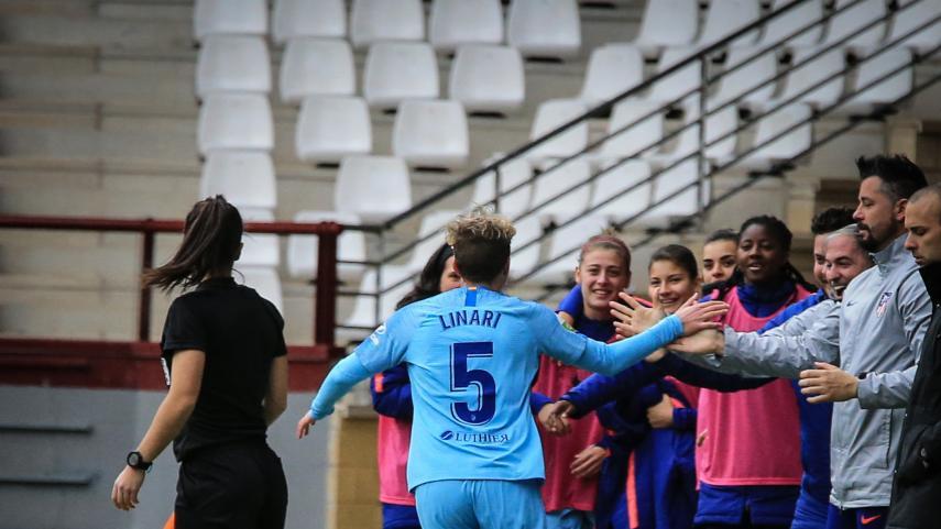 El At. Madrid Femenino conquista Las Gaunas