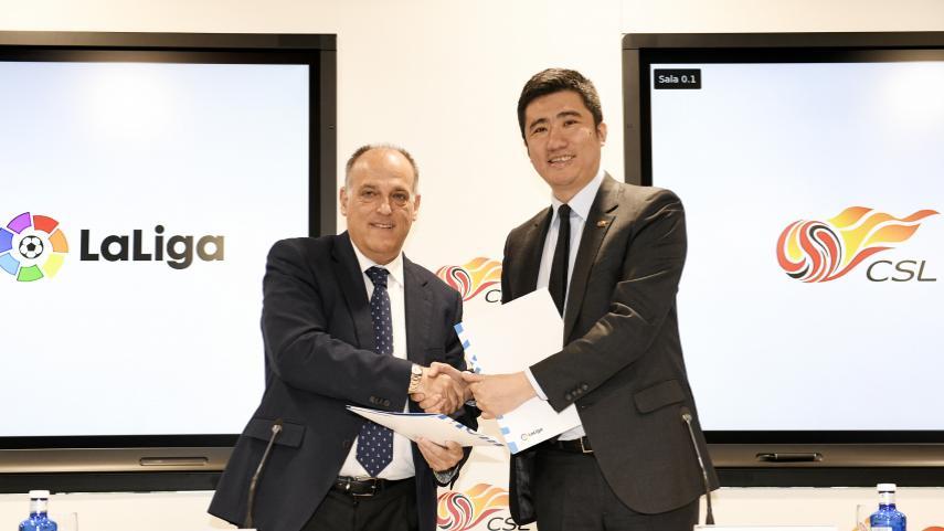 LaLiga y la CSL de China firman su acuerdo de colaboración estratégico
