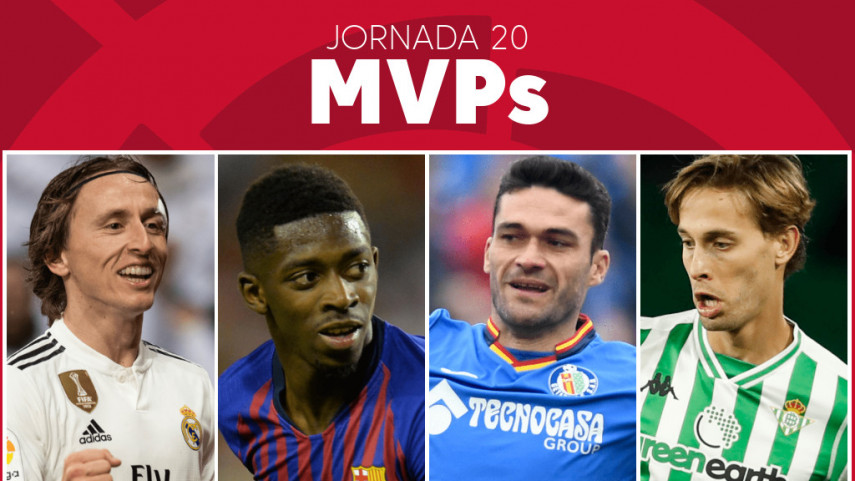 Elige al MVP de la jornada 20 de LaLiga Santander